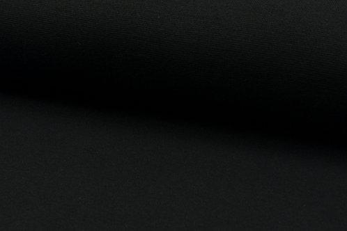 Bündchenstoff glatt schwarz
