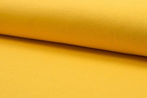 Bündchenstoff glatt gelb