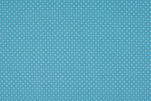 PW-Stoff hellblau wei�e P�nktchen 145 cm - Quality