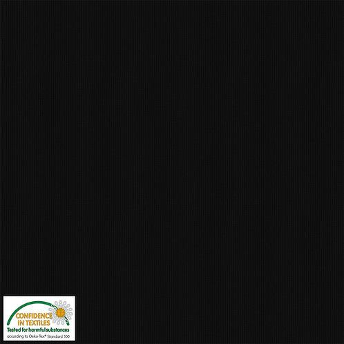 Avalana Rib Jersey schwarz - Stof - Bündchen