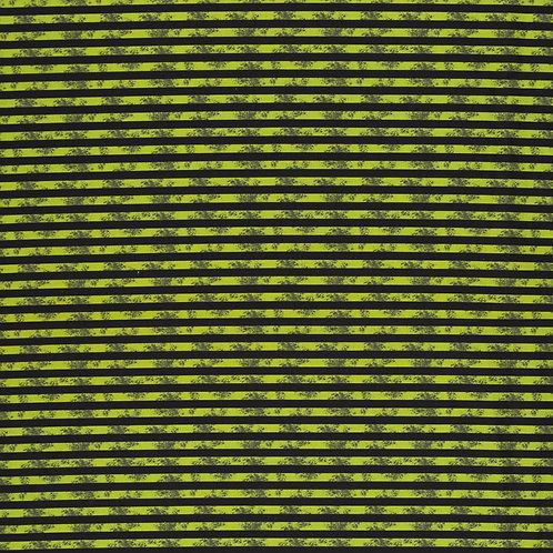 BW Stoff Steinbeck Dinos schwarz-grün Streifen 147cm Swafing