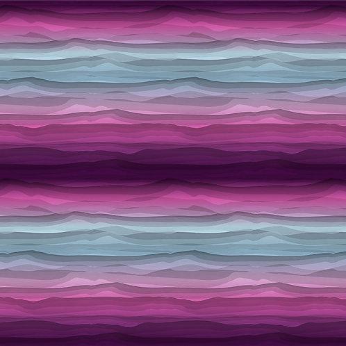 BW Jersey Wavy Stripes by Lycklig beere-blau 160cm - Swafing