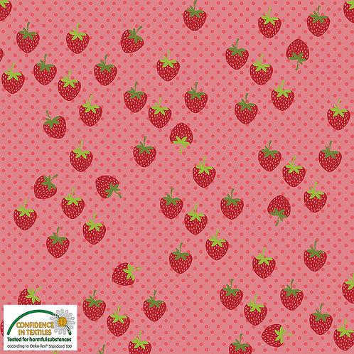 Avalana Jersey pink / Erdbeeren STOF