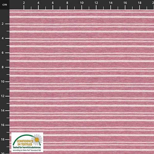 Avalana Jersey Melange Streifen rosa STOF