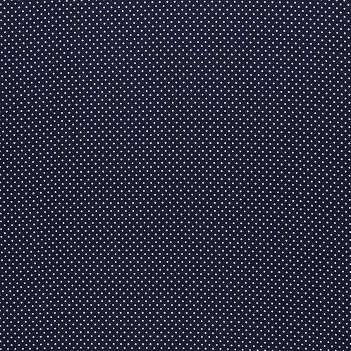 BW Judith dunkelblau mit weißen Punkten 148cm