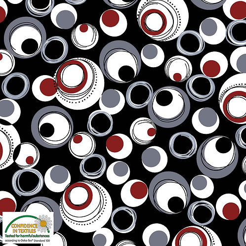 Avalana Jersey Kreise rot/schwar/grau