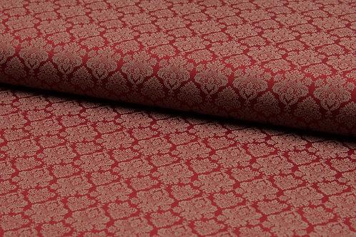 Kleidersatin Romantico Wine Red Embleme
