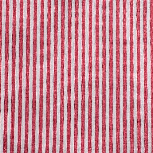 PW Stoff Caravelle Streifen FEIN rot
