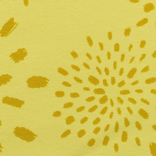 BW Jersey Veronika Sonnen auf gelb 160cm - Swafing