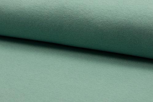 Bündchenstoff glatt mint / hellgrün