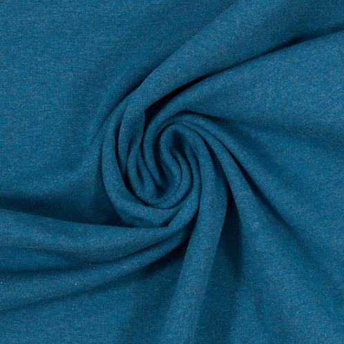 Bündchenstoff Heike melange blau - Swafing