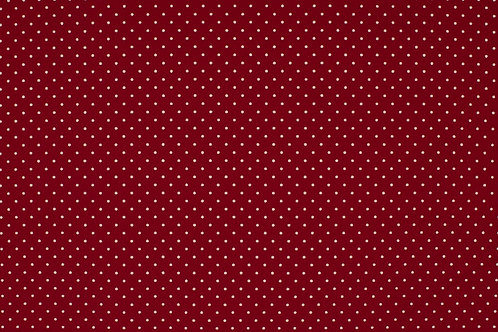 PW-Stoff 100%BW 145 cm - small dot red/white