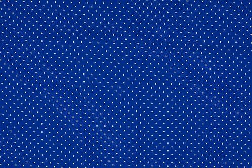 PW-Stoff k�nigsblau wei�e P�nktchen 145 cm - Quality