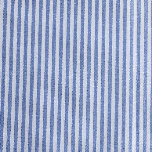 PW Stoff Caravelle Streifen FEIN royalblau