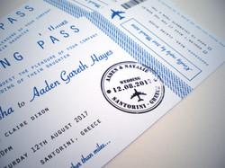 Boarding Card Invitation