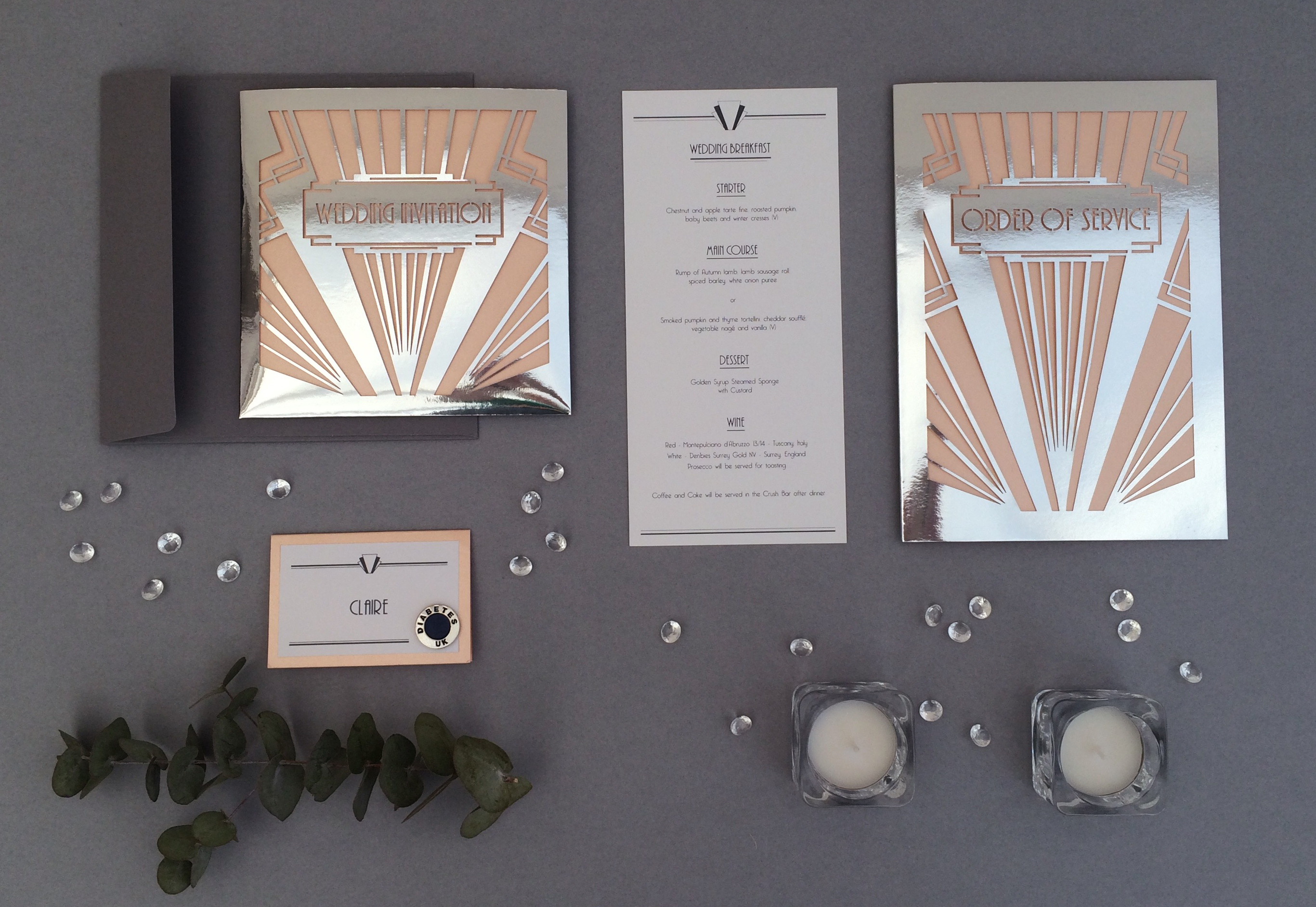 Art Deco Wedding Stationary