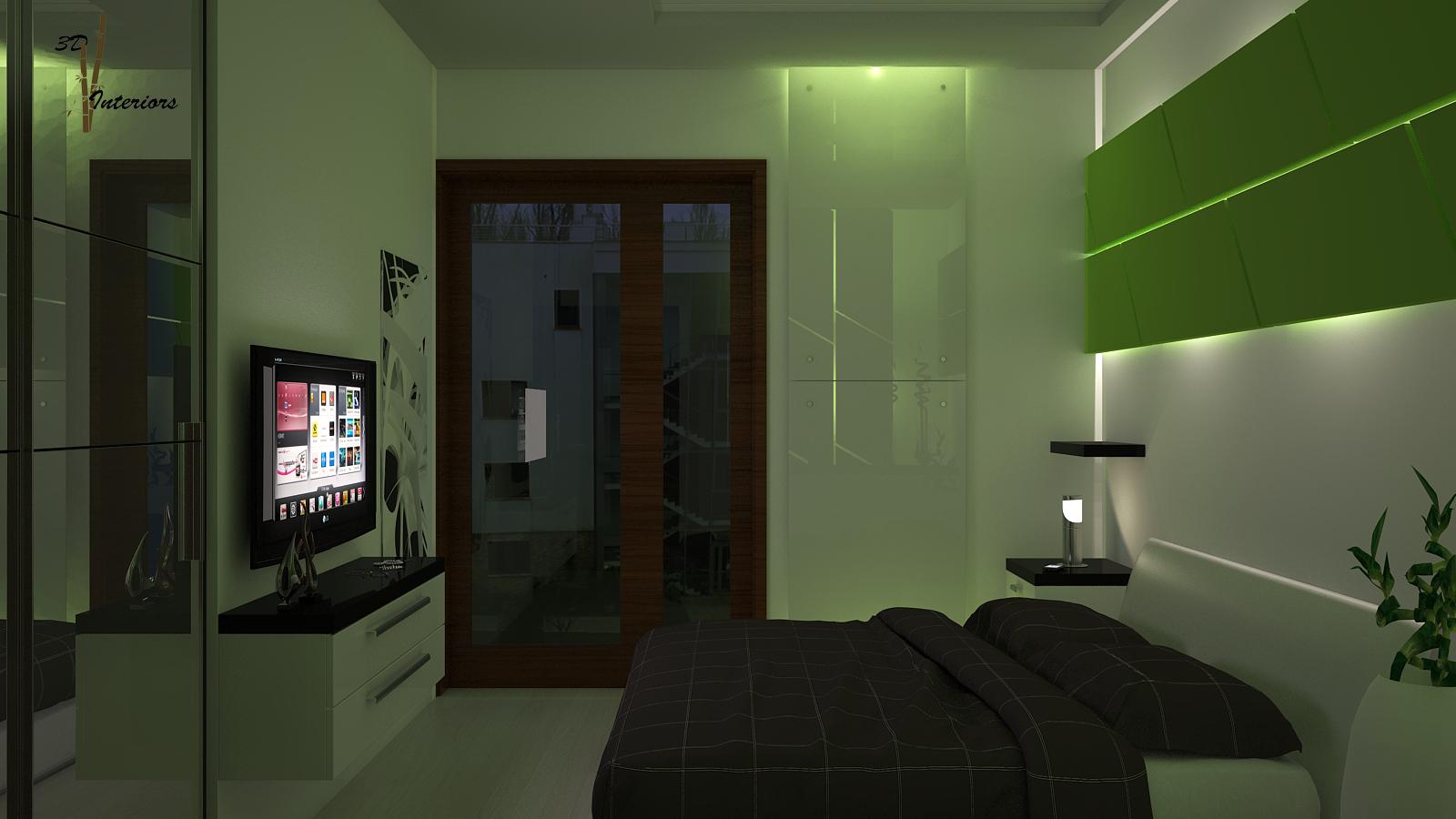 Hálószoba látványterv