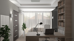 Dolgozószoba 3D Látványterve