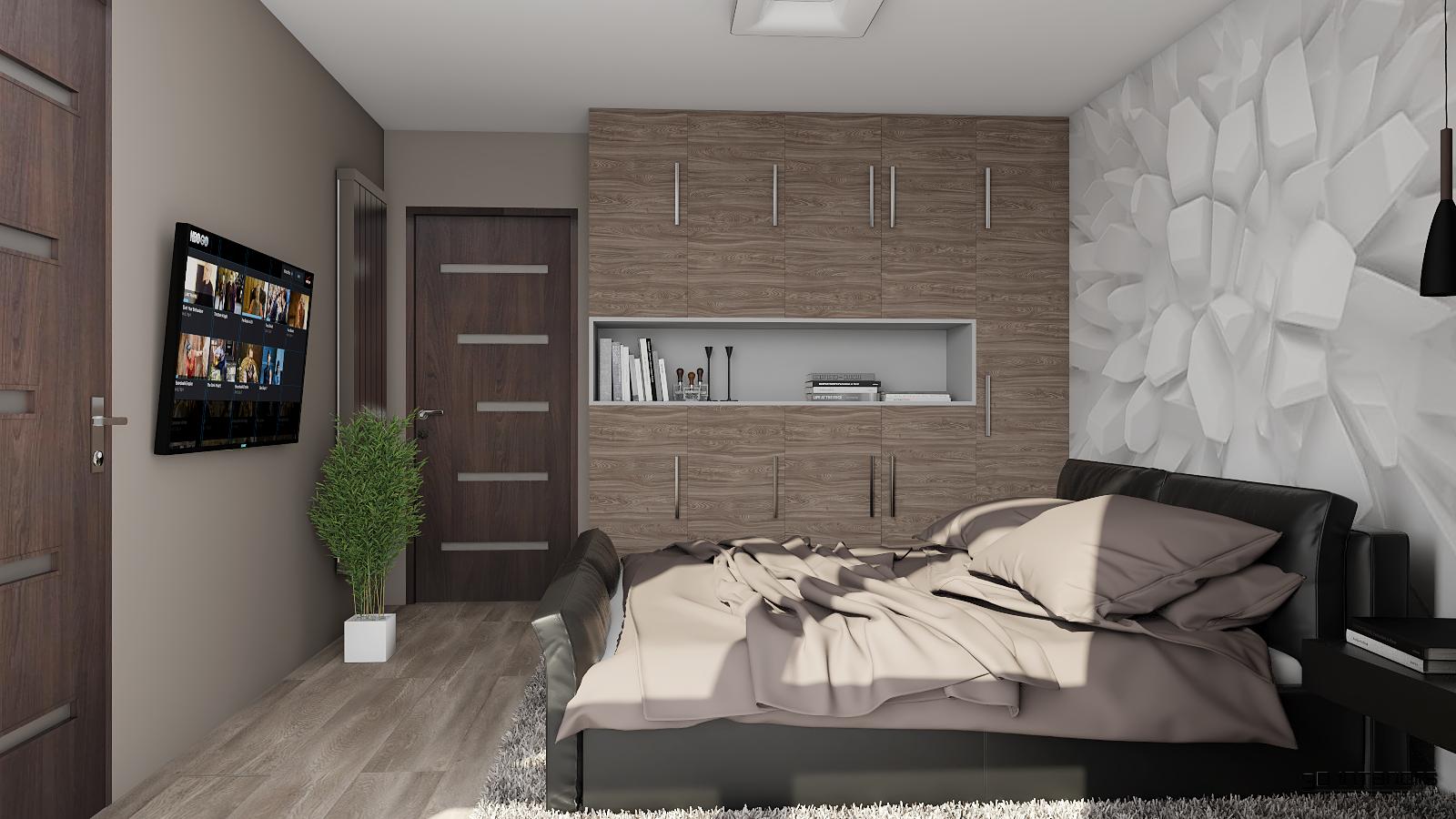 Hálószoba 3D Tapétával