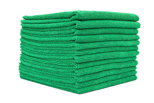 Green interior microfiber towels 16 X 16