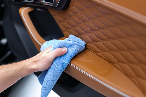 Blue edgeless microfiber towels 16 X 16