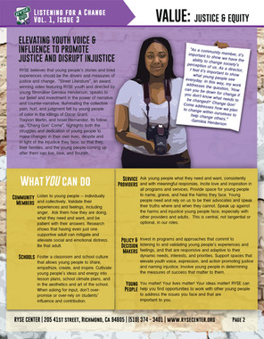 Listening Campaign: Justice & Equity pg.2