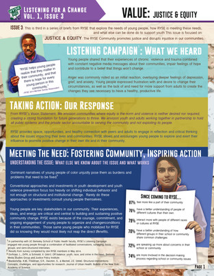 Listening Campaign: Justice & Equity pg.1