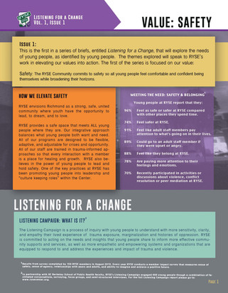 Listening Campaign: Safety pg.1