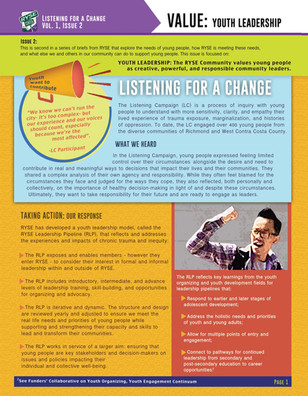 Listening Campaign: Youth Leadership pg.1
