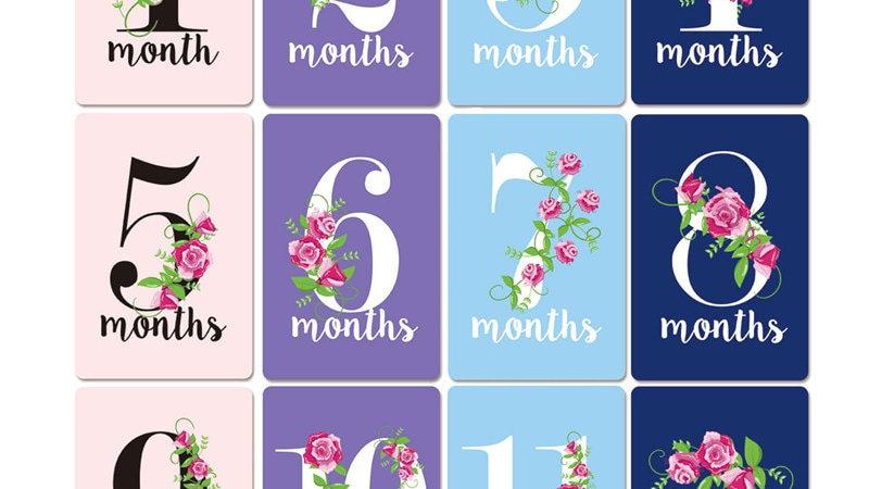 New Hot Sale 12 Sheet Baby Month Sticker Newborn Milestone Souvenirs Photograp