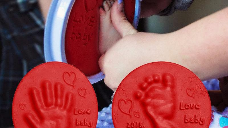 Soft Clay DIY Newborn Baby Souvenirs Hand Print Footprint Non-Toxic Cl