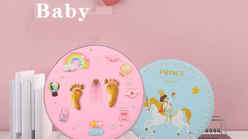 Safe Newborn Baby Souvenirs Hand Foot Print Baby Handprint Footprint Mud Maker