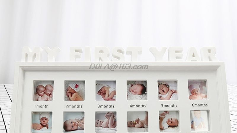 "Creative DIY 0-12 Month Baby ""MY FIRST YEAR"" Pictures Display Plastic Photo Fra"