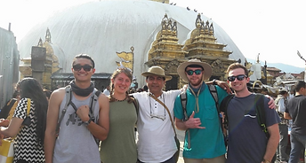 (Left to right: Daniel, Ellen, Bhupal, James, Andrew)