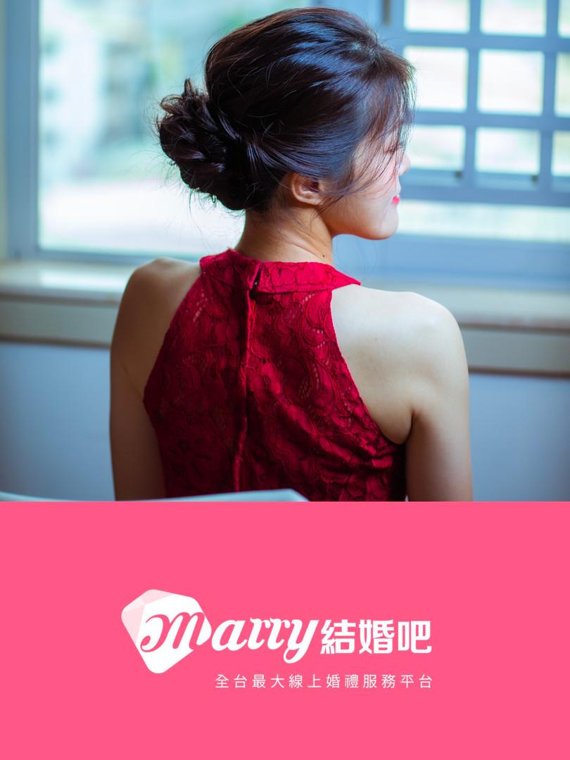 真的不用染!4種「黑髮」新娘造型 保有線條立體感不是夢