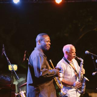 Leroy Jones (trumpet) and Uli Wunnner (saxophone)