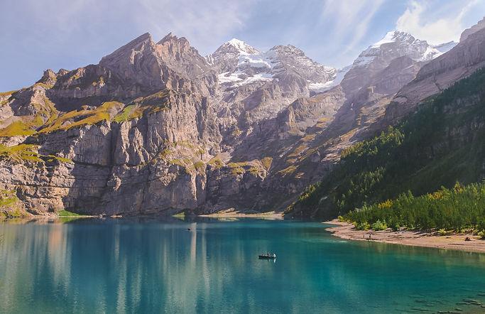 A lake in austrian mountains , Planet Ea