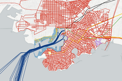 mediterranean port city urban analysis architecture