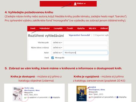 Objednávejte a rezervujte knihy přímo v online katalogu