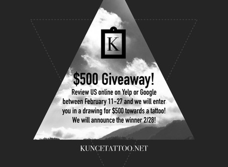 $500 Giveaway!