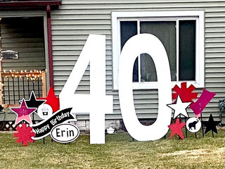 40 with red, red hologram, and black accents with specialty coffee cup and elephant accent