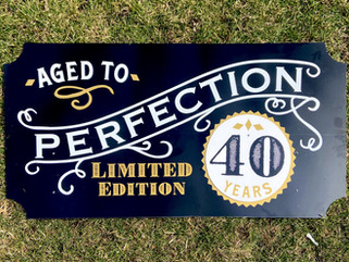 """Aged to Perfection Topper - available in 40, 50, 60, 70, or """"Just Enough"""" years"""