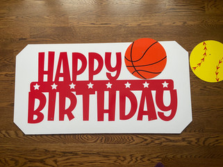 Sports Happy Birthday Topper, any sport available