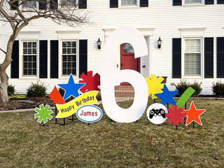 6 with bright accents and video game specialty accent