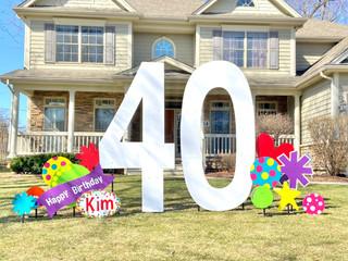40 with Rainbow Polka Dots
