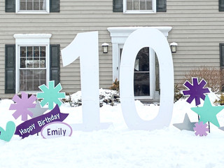 10 with purple, turquoise, and silver accents