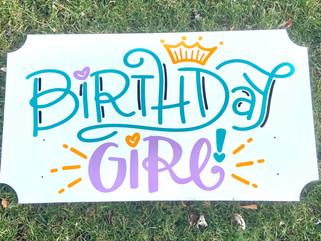 """""""Birthday Girl"""" Topper"""