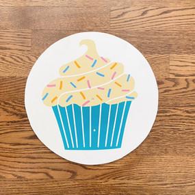 Teal Cupcake - Medium