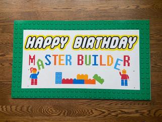 Master Builder Cake Topper