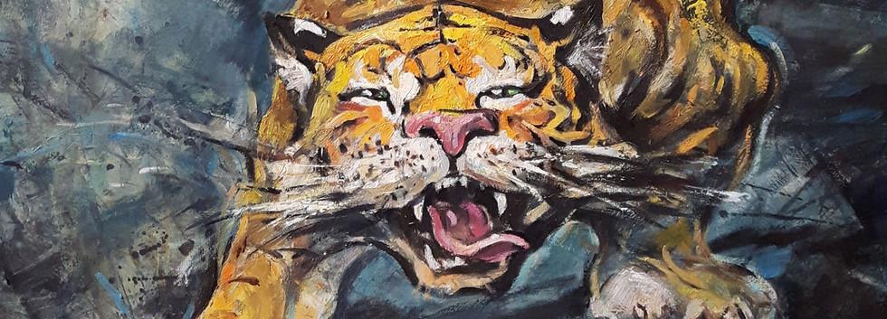 """""""Be Fierce"""" oil on canvas"""